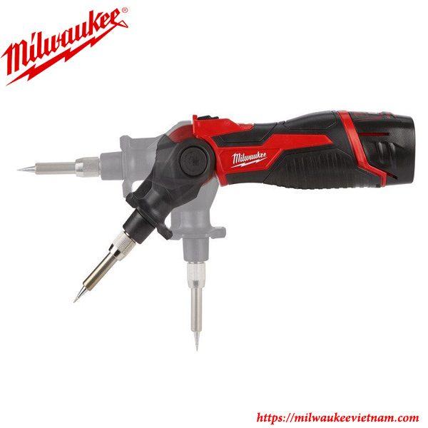 Súng hàn nhiệt Milwaukee M12 SI tiện lợi với đầu xoay