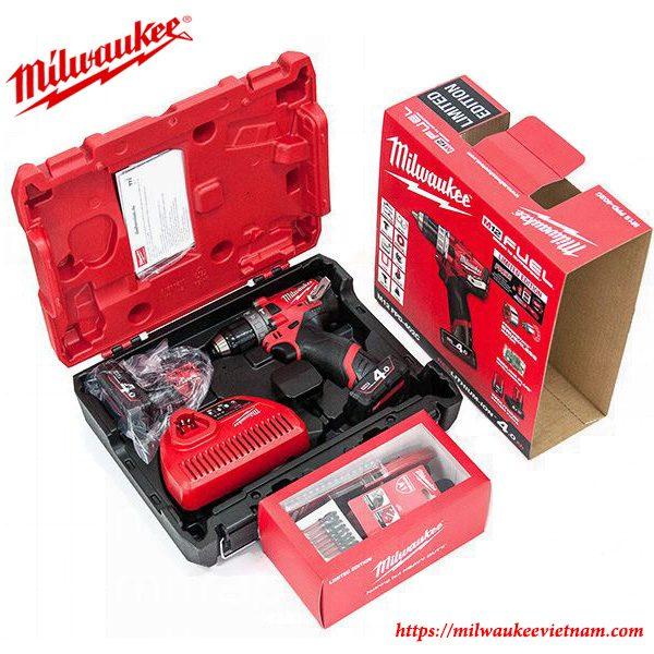 Trọn bộ máy khoan động lực dùng pin Milwaukee M12 FPD SET