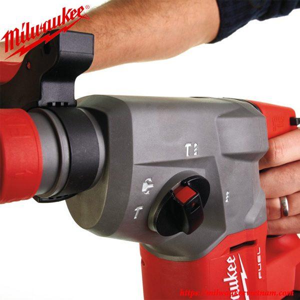 Thiết kế tiện lợi của dòng máy khoan búa dùng pin Milwaukee M18 CHX-502C