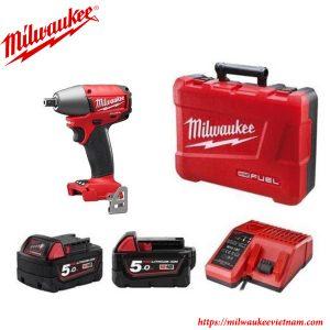 SET máy siết bu lông Milwaukee M18 FMTIW12 502X 2 pin 1 sạc cho thời gian hoạt động lâu dài