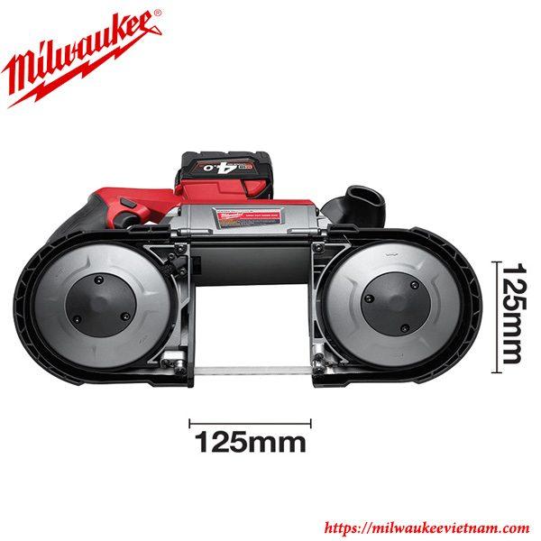 Kích thước nhỏ gọn của dòng máy cưa vòng Milwaukee M18 CBS125