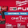 Bộ SET máy siết bu lông dùng pin Milwaukee M18 ONEFHIWF34 hỗ trợ điều khiển qua app