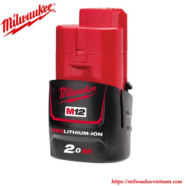 Dòng pin 12 V milwaukee M12 B2 chính hãng cho thời gian sử dụng lâu dài