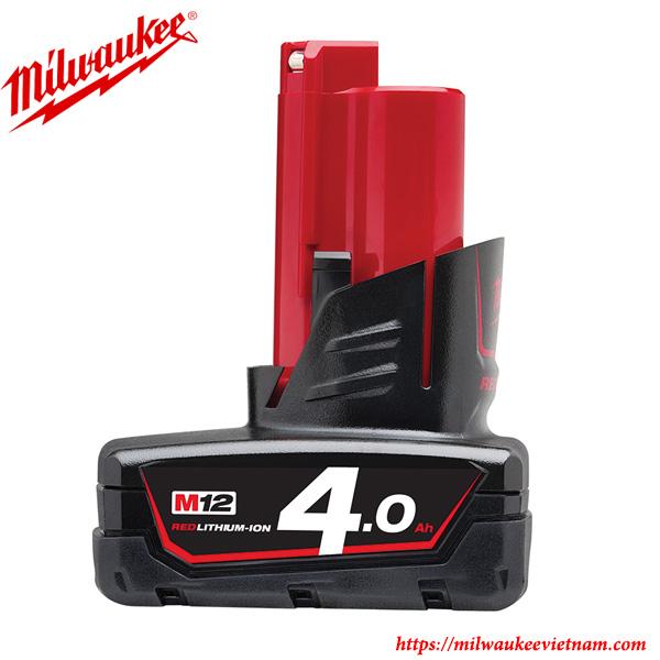 M12 B4 4.0 dòng pin chính hãng Miluwakee hiện đại cho hiệu năng vượt trội