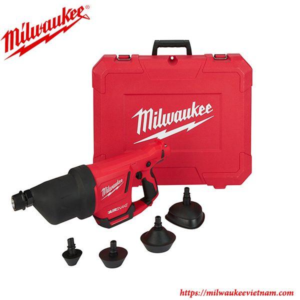 Súng hơi thông tắc Milwaukee M12 DCAG kèm hộp nhựa tiện dụng