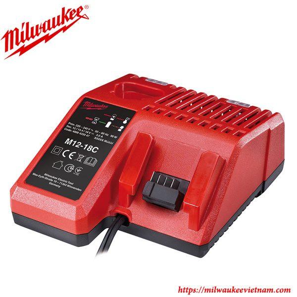 Bộ sạc pin thường 12V 18V Milwaukee M1218C chính hãng