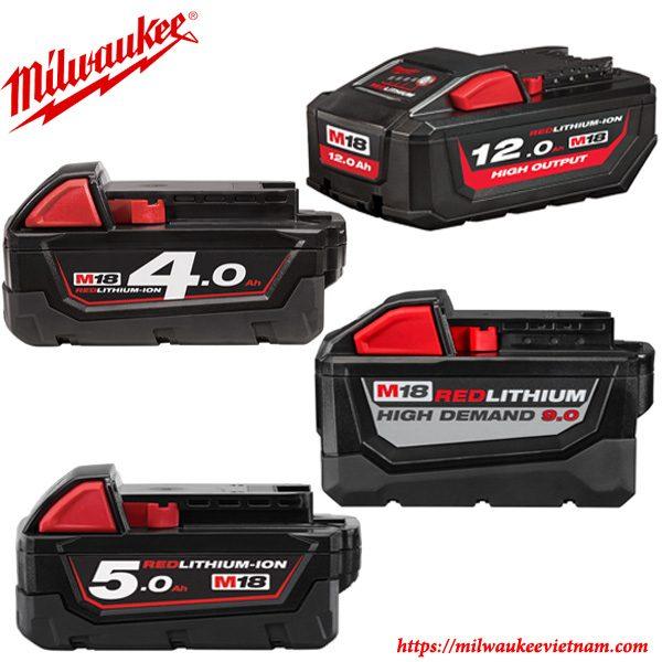 Tập hợp các dòng pin 18V M18 Milwaukee chính hãng