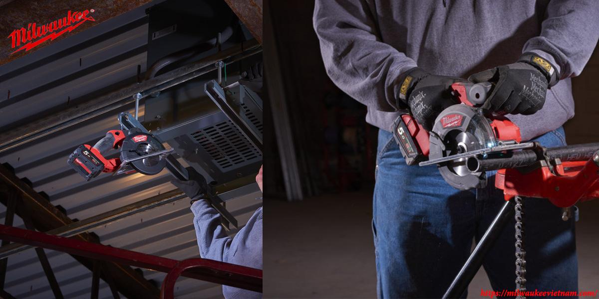 Máy cắt kim loại Milwaukee M18 FMCS cho khả năng ứng dụng đa dạng trong thực tế