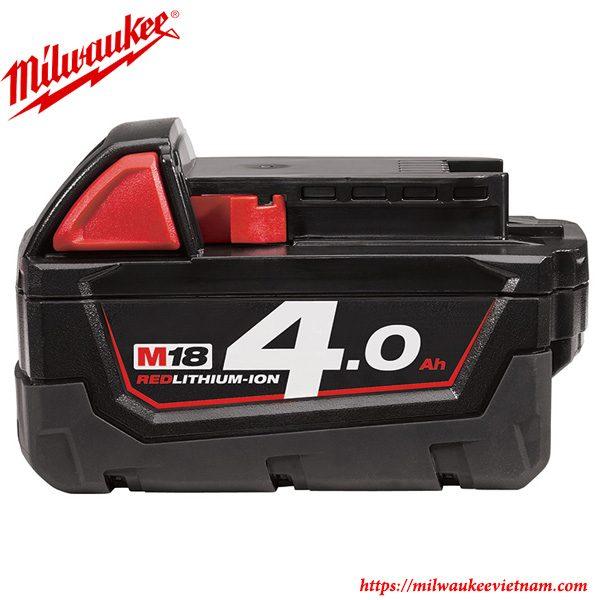 Pin 18V dung lượng 4.0Ah Milwaukee chính hãng chất lượng cao