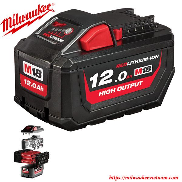Pin 18V 12.0Ah REDLITHIUM-ION ™ Milwaukee dung lượng cao nhất của hãng