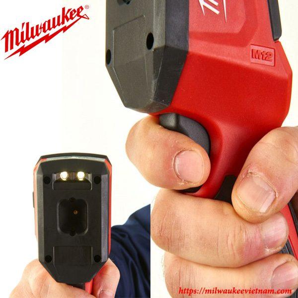Máy dò nhiêt Milwaukee M12 TD nhỏ gọn dễ dàng sử dụng