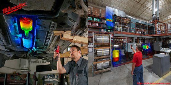 Máy dò nhiêt Milwaukee M12 TD cho tính ứng dụng cao trong thực tế