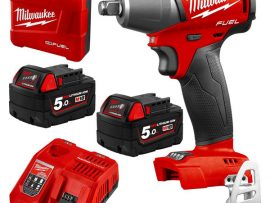 SET máy siết bu lông cơ bản 1/2 Milwaukee M18 FIW12-502C 2 pin 1 sạc tiện lợi