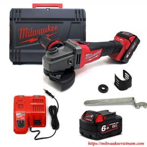 Trọn bộ máy khoan góc dùng pin Milwaukee M18 CAG100X-502 SET 2 pin 1 sạc