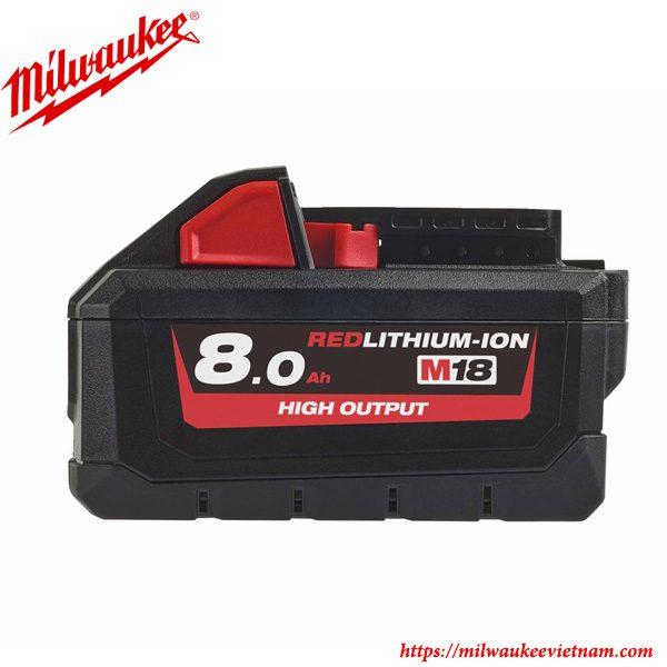 Pin Milwaukee M18 B8 8.0 Ah chính hãng chất lượng cao