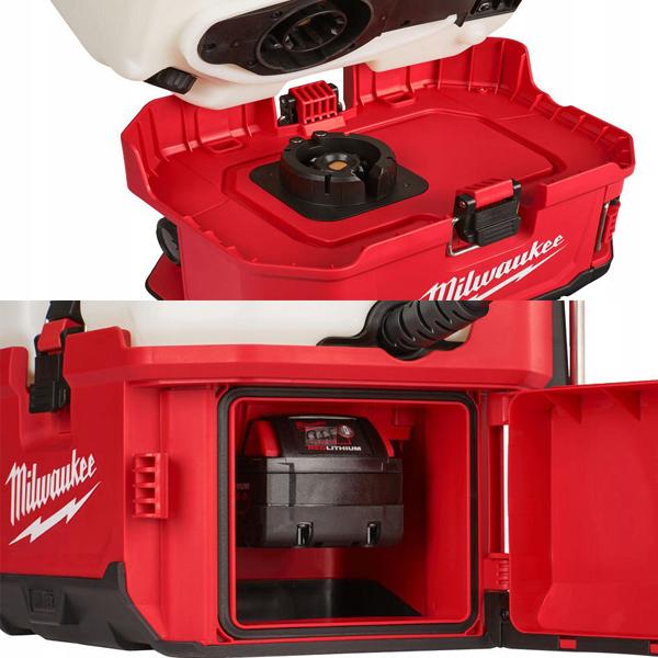 Chân đế máy phun Milwaukee M18 BPFPH có ngăn chứa pin tiện lợi