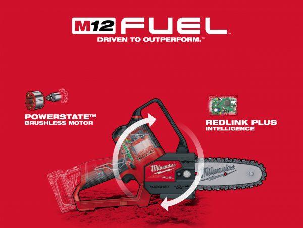 Máy cưa xích Milwuakee M12 FHS áp dụng công nghệ tiên tiến