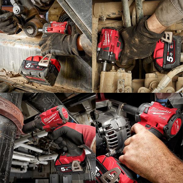 Máy siết bu lông Milwaukee M18 FIW212 cho tính ứng dụng cao ngoài thực tế