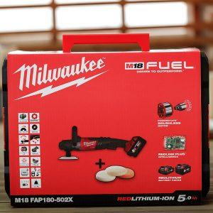 Máy đánh bóng Milwaukee M18 FAP180-502X hộp nhựa bền bỉ chắc chắn