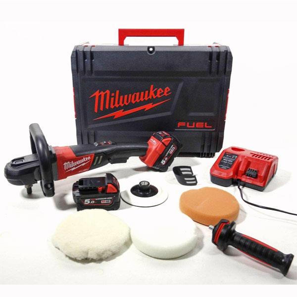 Trọn bộ sản phẩm máy đánh bóng Milwaukee M18 FAP180-502X
