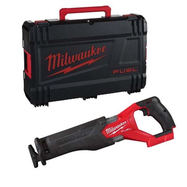 máy cưa kiếm dùng pin Milwaukee M18 FSZ cùng hộp nhựa đi kèm